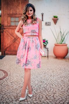 ThassiaNaves. Floral print dress.