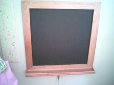 This is the built in chalk board mike made for Ruby! Chalk Board, Cork, Flat Screen, Boards, Walls, Frame, Home Decor, Planks, Picture Frame