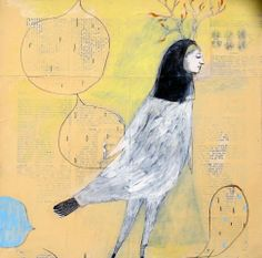 Winged Things - small-drawings-and-collage