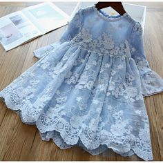 Elegant Flower Girls Dress Wedding Party Princess Dress Casual Kids Clothes Lace Long Sleeves Dress Children's Vestidos For Wedding Dresses For Girls, Girls Dresses, Flower Girl Dresses, Dress Wedding, Flower Girls, Dresses For Kids, Childrens Party Dresses, Summer Dresses, Princess Dress Kids