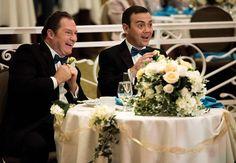"""#Brooklyn99 2x17 """"Boyle-Linetti Wedding"""" - Boyle and his dad Lynn Boyle (guest star, Stephen Root)  watch a performance."""