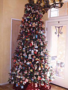 hallmark ornament tree beautiful colorful christmas tree christmas tree themes