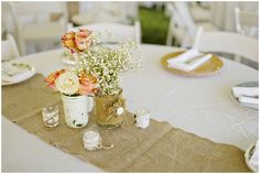 terra cotta wedding reception decor // photo by Andie Freeman