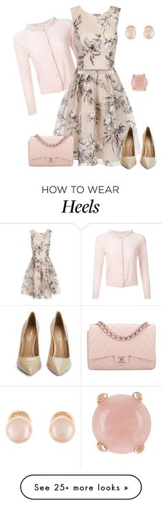 """outfit 2758"" by natalyag on Polyvore featuring Simone Rocha, Chi Chi, Kurt Geiger, Chanel, Kenneth Jay Lane and Milor"