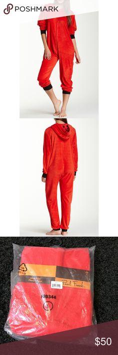 Paul Frank Red Pajama Hooded Jumper Paul Frank Red Snuggle Up Hooded Jumper, brand new size Large (adult) Paul Frank Intimates & Sleepwear Pajamas