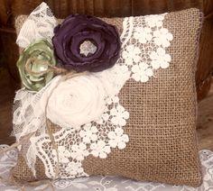 Shabby Chic Pillow, Handmade Pillows & Blankets