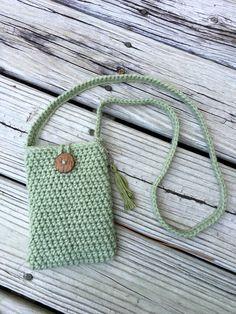 Petite Crochet Purse/Cross Body Bag by MidnightandMagnolias on Etsy