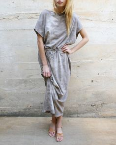 Black Crane - Long Dress in Cloud via Mohawk General Store