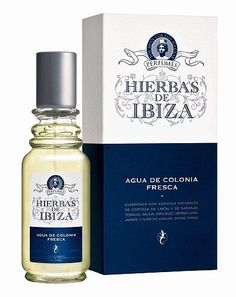 Hierbas de Ibiza Eau de Cologne offers you the unique aromas of this privileged Mediterranean island in a glass flask. It is made with the natural essences of Orange and Lemon peel, Thyme, Lavender, Sage, Verbena, Jasmine and Orange blossom, among others. Its freshness and long-lasting aroma are achieved with the use of 100% natural alcohol. The subtle color tone comes from the essences, which are completely free of artificial colorings.  #spanish #fragrances