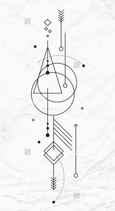 Wandgestaltung - Famous Last Words Simbolos Tattoo, Unalome Tattoo, Tattoo Drawings, Body Art Tattoos, Armband Tattoo, Geometric Tattoo Design, Geometric Designs, Geometric Shapes, Montain Tattoo