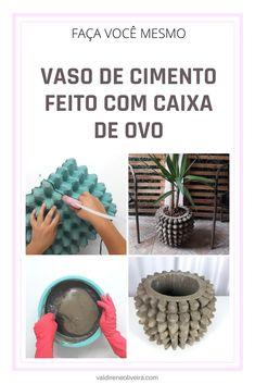Cement, Concrete, Creative Thinking, Hacks Diy, Handmade Art, Art Decor, Home Decor, Diy Tutorial, Dyi