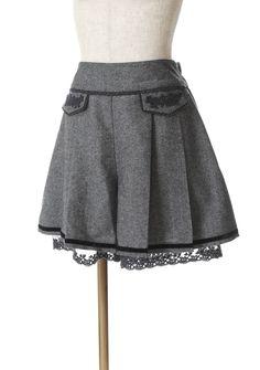 axes femme online shop   classic tweed culottes