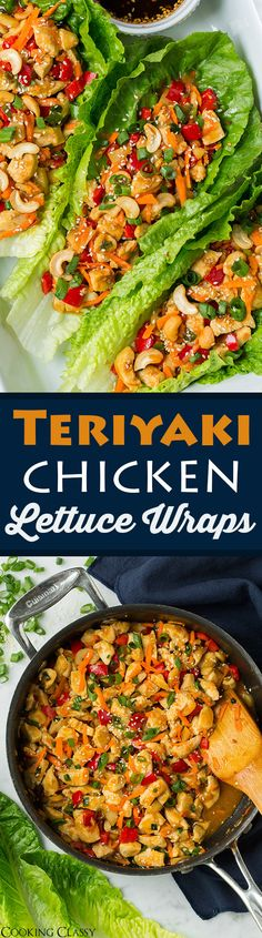 Teriyaki Chicken Lettuce Wraps - SO easy and SO GOOD! perfect meal for busy weeknights!