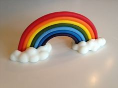 Attempting this for Chelsea's birthday cake this year- How to make a fondant rainbow with clouds-Youtube video!