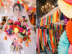 colorful wedding decor - photo by Lara Hotz http://ruffledblog.com/australian-polo-club-wedding