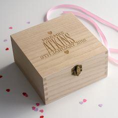 Large Personalised Elegant Wedding Keepsake Box | Wedding keepsake ...