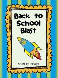 Back to School Blastoff-12 back to school activities    $5