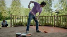Now, you can get back to dancing on your deck barefoot without having to worry about cracks and splinters because you used BEHR Paints DeckOver.- iSpot.tv
