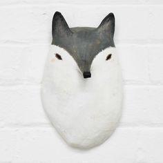 WOLF - Paper Mâché Head