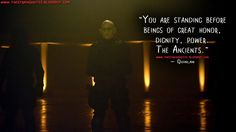 You are standing before beings of great honor, dignity, power. The Ancients. Quinlan Quotes, The Strain Quotes