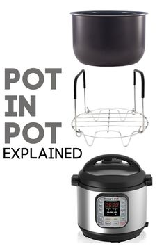 Pot-in-Pot Method Explained--Somewhat new to Instant Pot cooking? Have you heard of pot-in-pot (PIP)? Confused on what it means? Today I will be tackling the topic of using the pot-in-pot technique with your electric pressure cooker. Pressure Cooker Chicken, Instant Pot Pressure Cooker, Pressure Cooker Recipes, Slow Cooker, Cooking Tips, Cooking Recipes, Canning Granny, Pressure Cooking Today, Crockpot Recipes