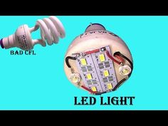 canvert old broken CFL into super led light at home Diy Generator, Homemade Generator, Diy Electronics, Electronics Projects, Electronics Components, Arduino Projects, Modern Lighting Design, Led Diy, Power Led