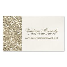 Glitter Look Gold Business Card
