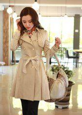 Wholesale Autumn New Style Juniors Khaki Coats