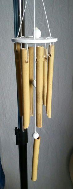 Vintage deko ideen deko aus bambus wanddeko windspiel spiegelrahmen Interieur Pinterest