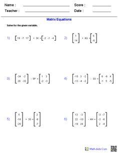 General Functions Worksheets Algebra 2 Worksheets | Math-Aids.Com ...
