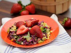 Grilled Seasonal Salad with Avocado Dressing Recipe : Jeff Mauro : Food Network Top Salad Recipe, Salad Recipes, Kitchen Recipes, Cooking Recipes, Healthy Recipes, Yummy Recipes, Potluck Recipes, Yummy Yummy, Healthy Meals