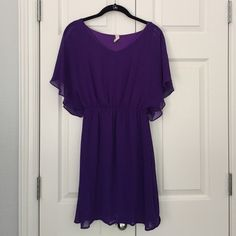 """Purple Boutique Dress Size S Purple Boutique Dress Size S from Franchesca's.  Fully-lined & comfortable.  Measures length 33"""" from shoulder.  Only worn once for pictures.  Excellent condition. Francesca's Collections Dresses"""