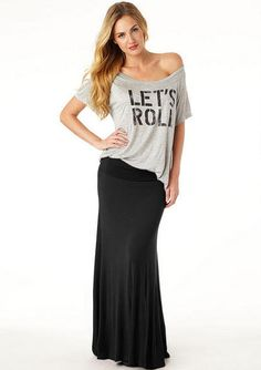 #alloyapparel.com         #Skirt                    #Haylee #Fold #Over #Maxi #Skirt #Extended #Length  Haylee Fold Over Maxi Skirt - Extended Length                                 http://www.seapai.com/product.aspx?PID=530485