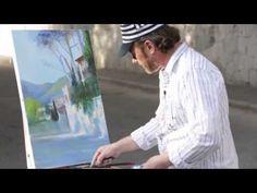 ▶ Пленэр в Ялте. Городская улочка. Пейзаж. Научиться рисовать с натуры - YouTube