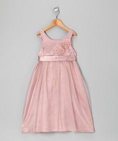 Take a look at this Dusty Pink Rosette Dress - Toddler by Baby Nay Collection on #zulily today!