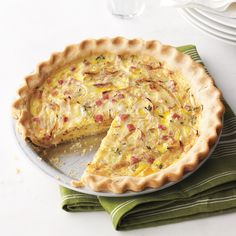 A tender pie crust plus a savory filling adds up to a delicious and classic ham-and-cheese quiche that even the gluten-averse can enjoy. The key to this quiche is the easy-to-work-with dough. Since there's no gluten, which leads to toughness if the dough is overworked, you can mix and roll without worry.