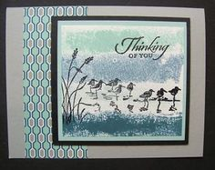 Lynn used the masking tape technique on her fabulous card. It features Wetlands and Winter Frost dsp.