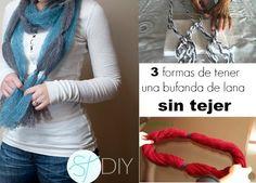 Patrones Crochet: Como hacer una Bufanda de Lana Sin Tejer