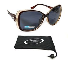 Womens Bifocal Sunglasses Oversized with Rhinestones 150 200 250 300 ** Check out this great product.Note:It is affiliate link to Amazon.