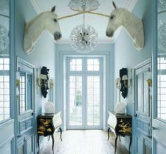 Inspiration: A French Chateau with Unicorns.  coool