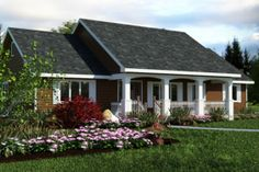House Plan 18-1036, 1412 sq ft, 55'x35'