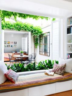 Eye-Opening Unique Ideas: Natural Home Decor Living Room Interior Design simple natural home decor window.Natural Home Decor Modern White Kitchens natural home decor bedroom beach houses.Natural Home Decor Diy Tree Branches. Internal Courtyard, Courtyard House, Indoor Courtyard, Courtyard Ideas, Design Seeds, Natural Home Decor, Home And Living, Living Rooms, Family Room