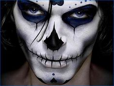 Mens Halloween Face Painting Designs
