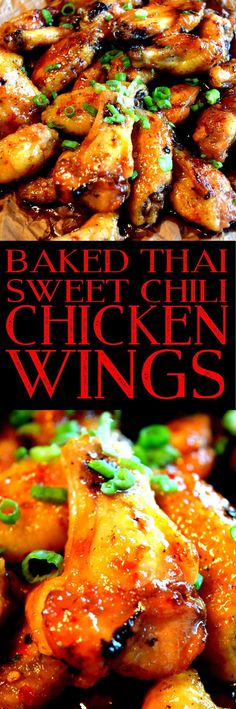 Baked Thai Sweet Chili Chicken Wings -- really good, but reduce water or increase cornstarch