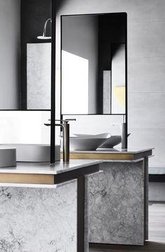 beautiful freestanding sinks and mirrors