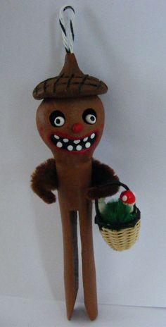 Acorn Head Creepling Folk Art Ornament