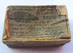 Snow's Defiance Quarter Tips vintage box. by essenzials on Etsy