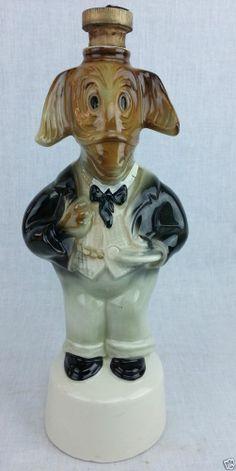 "1960 "" Campaigner Donkey"" Jim Beam decanter (Democrat) Porcelain 12 1/2"" tall #Beams"