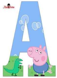 Cumple George Pig, Peppa E George, George Pig Party, Bolo Da Peppa Pig, Cumple Peppa Pig, Pig Birthday Cakes, Boy Birthday, Invitacion Peppa Pig, Peppa Pig Printables