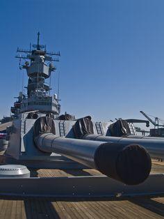 "U.S.S. Iowa Battleship 16"" guns"